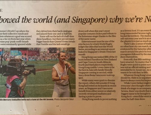 Queen Forever Gets Rave Reviews at the 2019 Hong Kong Rugby Sevens